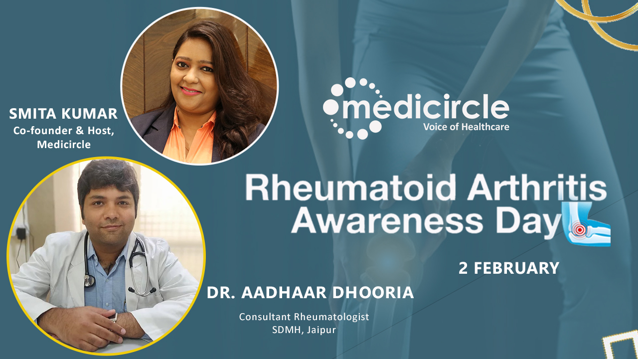 ''Early screening Rheumatoid Arthritis ensures a life free drugs & deformities,'' Dr Aadhaar Dhooria