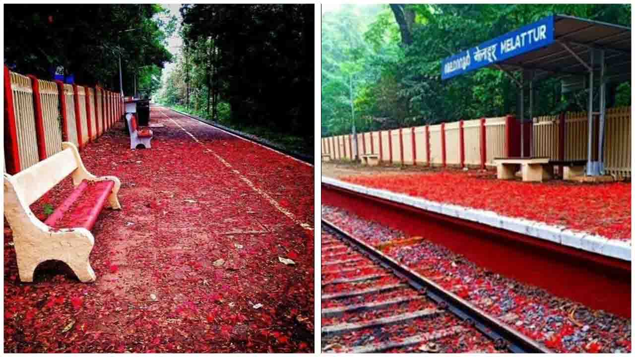 A mesmerizing scene at Melattur Station in the picturesque Shoranur, Kerala