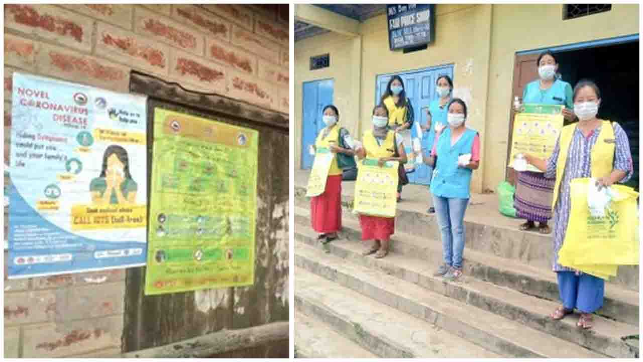 Anganwadi functionaries across Nagaland distributed hand-washing kits and initiated a poster campaign to sensitize local residents on COVID19.