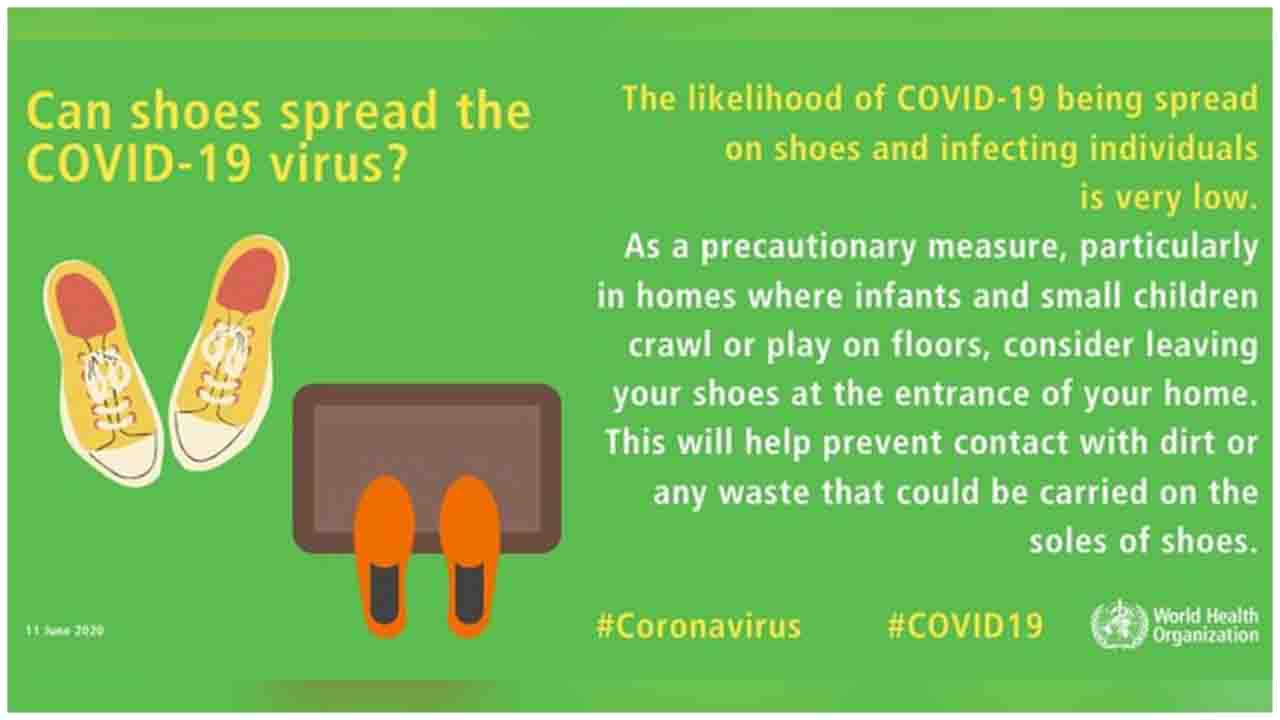 Can shoes spread the COVID19 virus ?