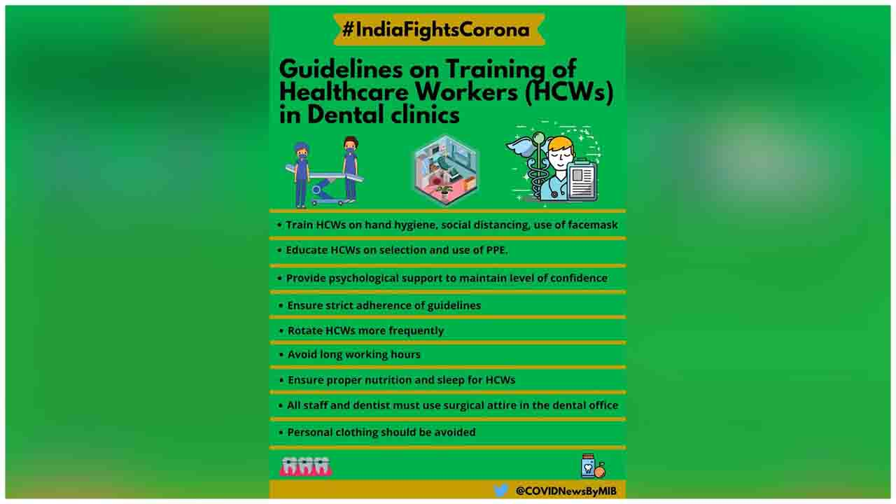 Checkout the Guidelines on the training of Healthcare Workers (HCWs) in dental clinics