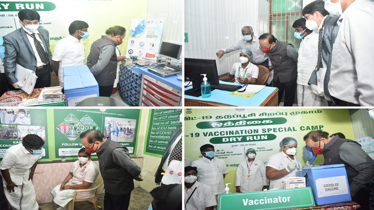 Here is a glimpse of the dry run for COVID-19 vaccine in various states