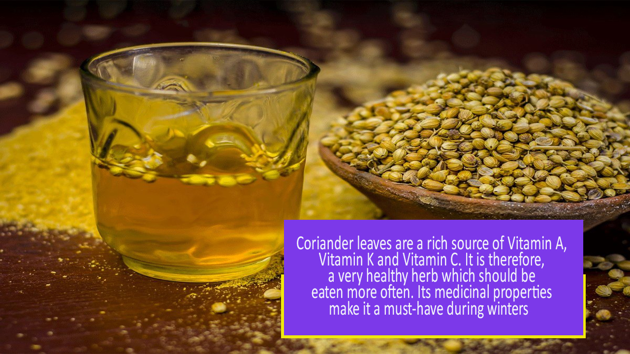 Know your Herbs! Coriander Water Benefits