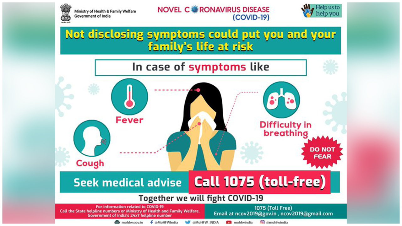 Don't Put Your Family's Life In Danger, Says MoHFW