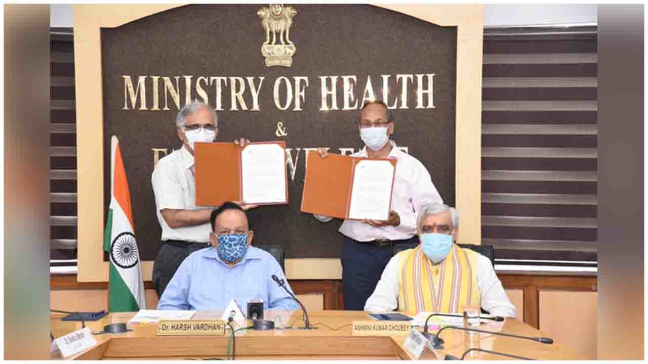 Dr. Harsh Vardhan presided the signing of MoU between fssaiindia under MoHFW INDIA & CSIR IND under India DST in the presence of Ashwini K Choubey .