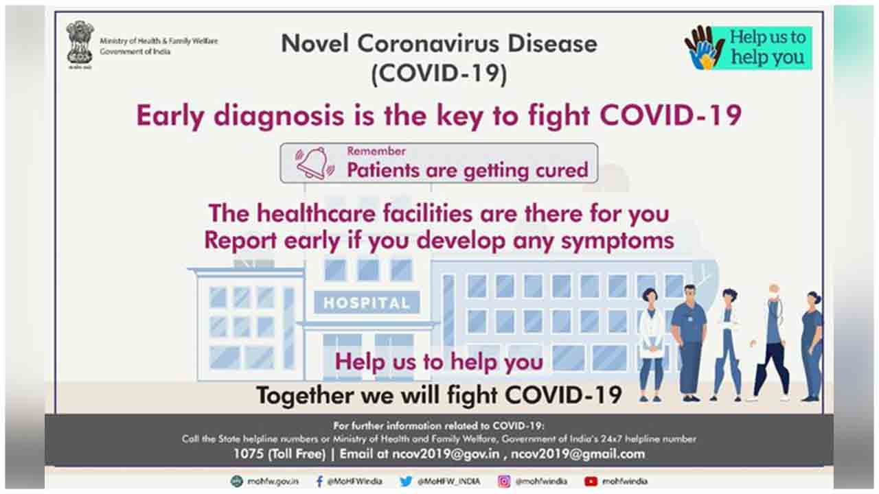 Early detection of #COVID19 can help cure the disease, says MoHFW