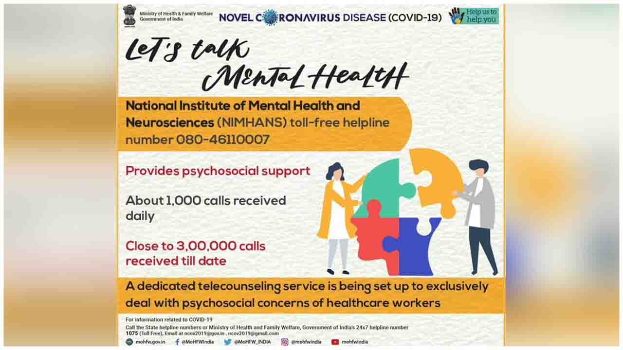 Feeling anxious or stressed due to the present circumstances? Let's Talk About Mental Health. A dedicated Tele-Counseling service set up for Healthcare Workers