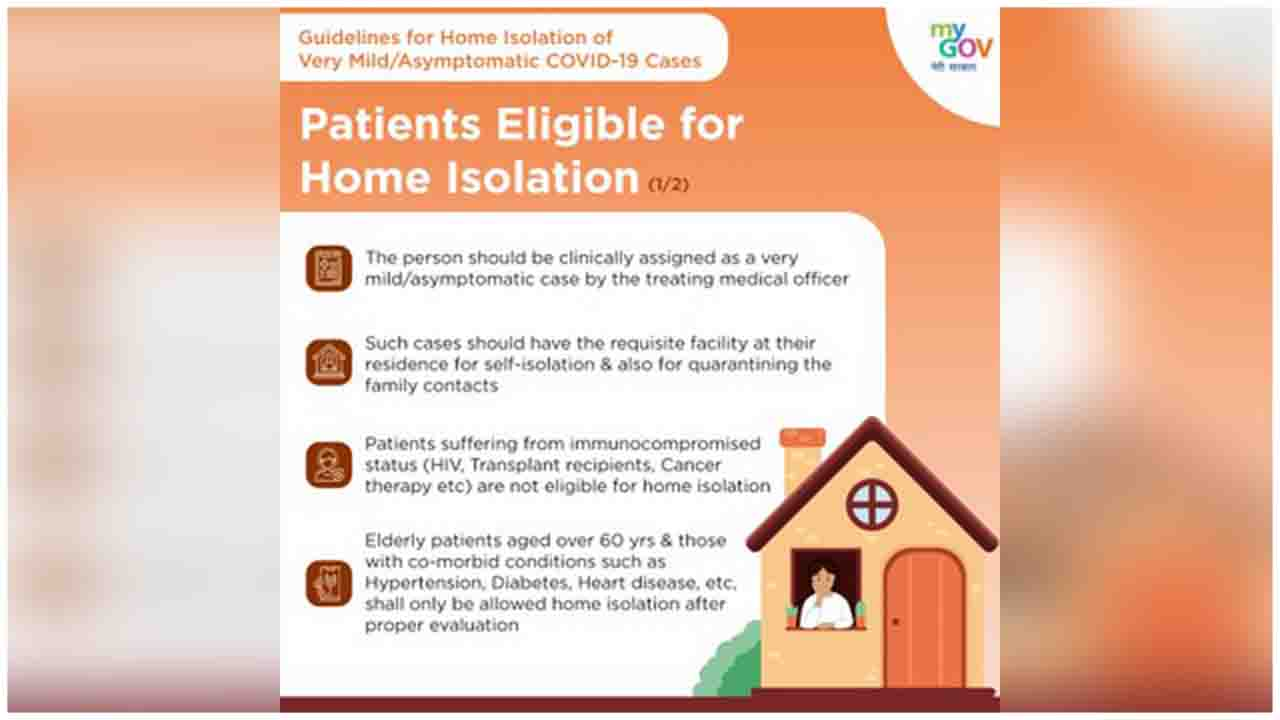 Glance through & get acquainted with the guidelines for home isolation of Mild/Asymptomatic COVID-19 cases. India Fights Corona
