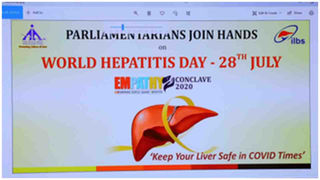 Health Minister Dr. Harsh Vardhan participated in 2nd Empathy E-Conclave on World Hepatitis Day for creating awareness among parliamentarians