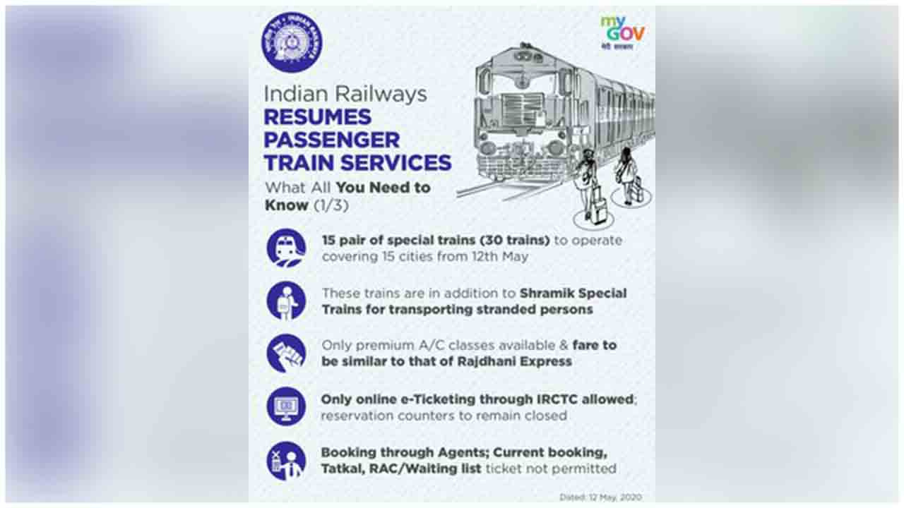 Here's all you need to know about RailMinIndia resuming the passenger train services