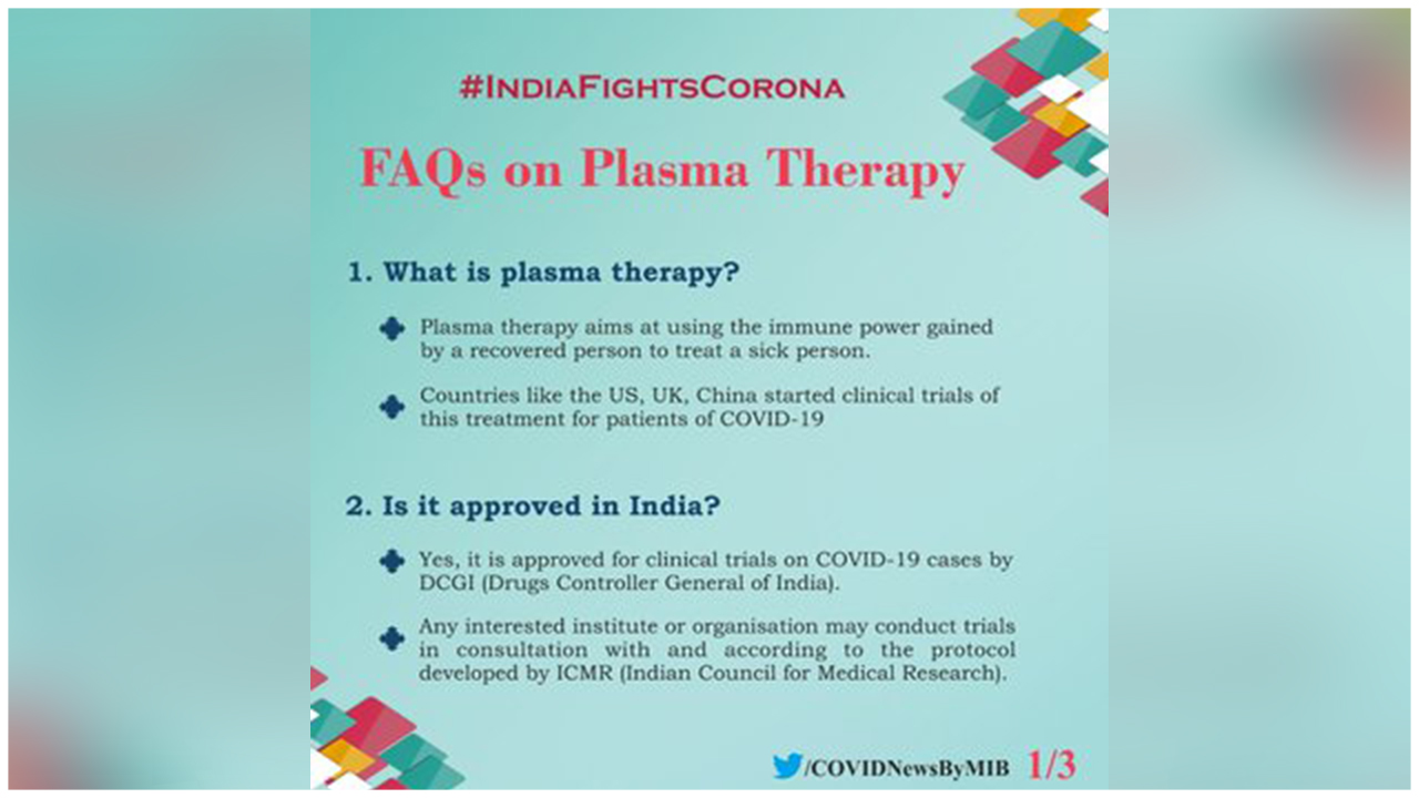 Here Is All That You Need To Know About The Plasma Therapy, A Potential Source Of Healing The Covid-19