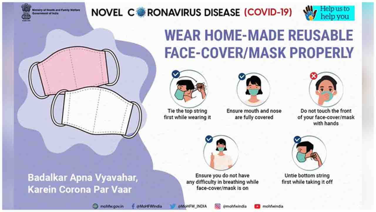 Home-made reusable face-cover / mask is effective for maintaining personal hygiene.