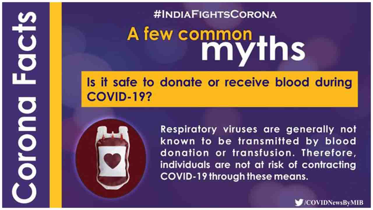 Is it safe to donate or receive blood during COVID19 ? lets checkout the Facts