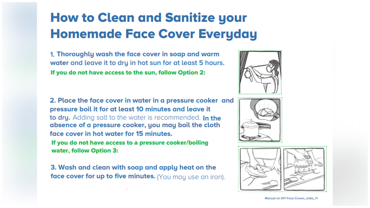 Learn How To Clean, Sanitize And Store Your Home Made Face Mask