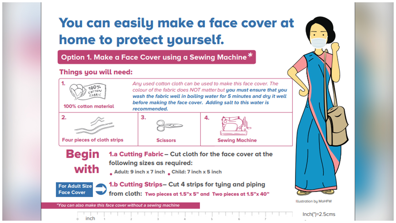 Learn How To Make Your Own Face Mask At Home, From These Easy Instructions By MOHFW