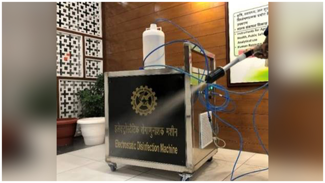 CSIR developed this innovative Electrostatic Disinfection Technology for effective disinfection and sanitization to fight with the corona pandemic.