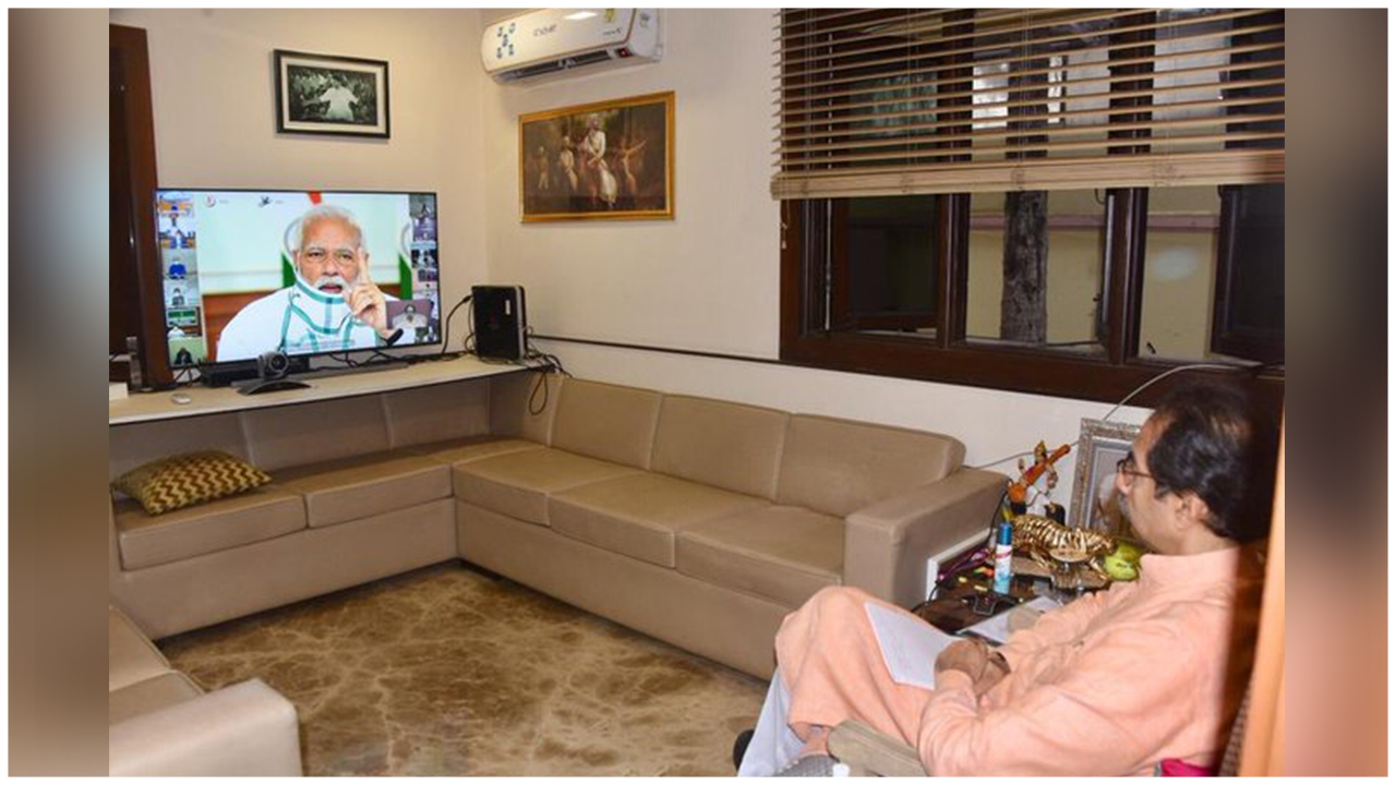 Maharashtra's CM Discusses Further Strategies To Combat Covid With The PM Over A Video Conference