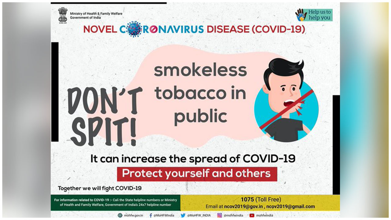 Tobacco Smoking And Spitting Can IncreaseThe Spread Of Coronavirus