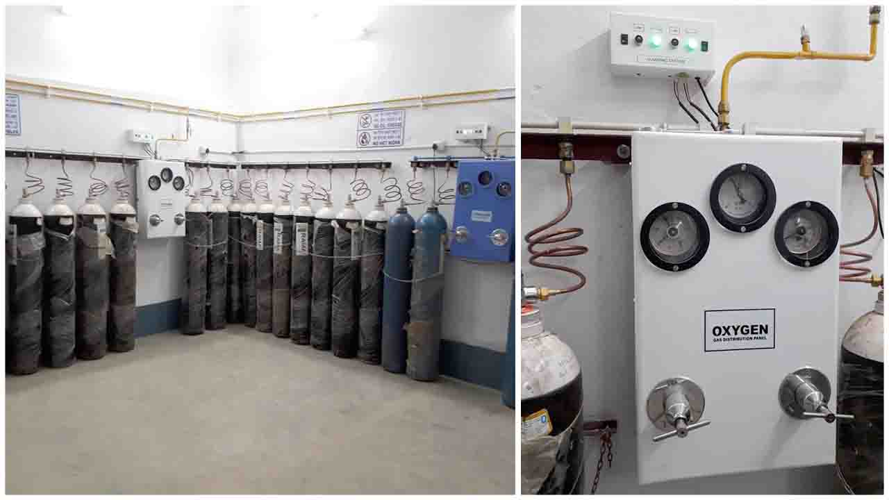 Oxygen Pipeline System is installed for the benefit of indoor patients of Divisional Railway Hospital Eastern Railway, Asansol, West Bengal.