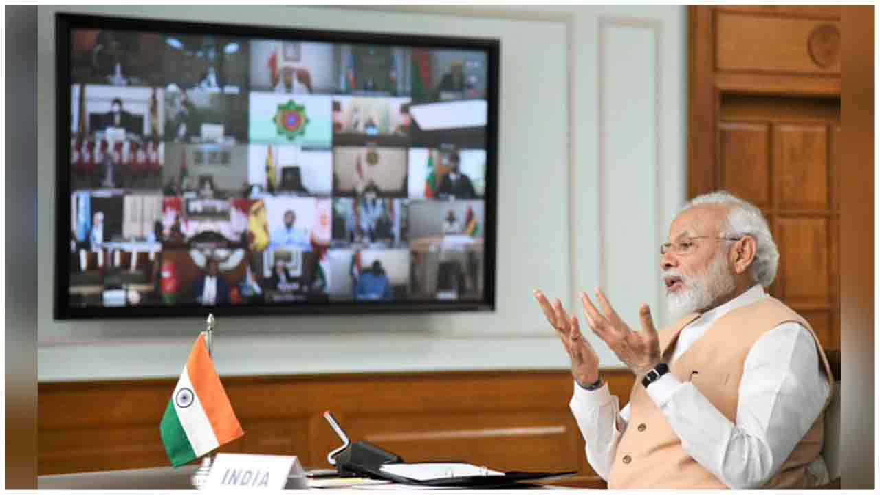 PM Modi at Video Conference of NAM Contact Group in response to #COVID19