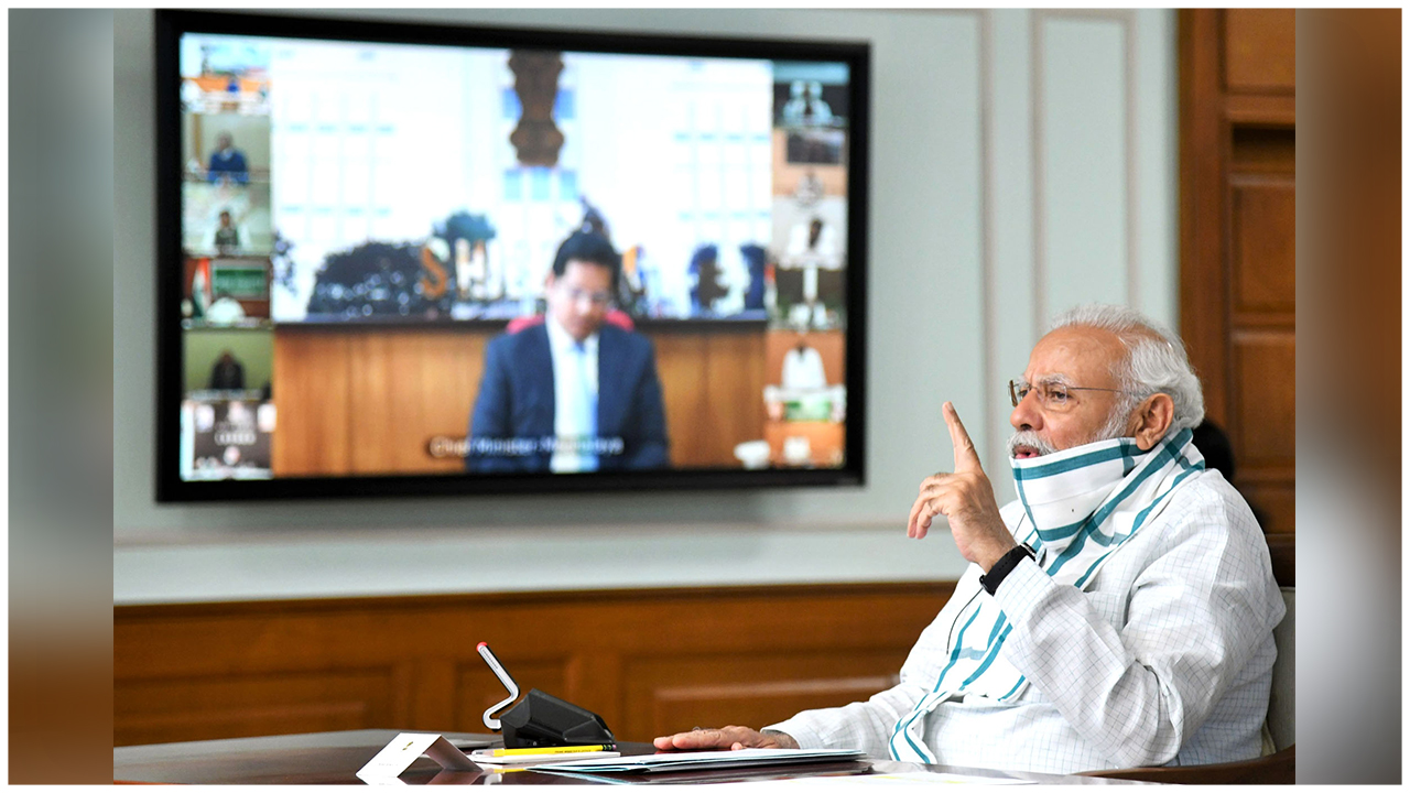 PM Modi Interacts With The Chief Ministers Discussing New Ways To Deal With The Pandemic And The Nationwide Lockdown