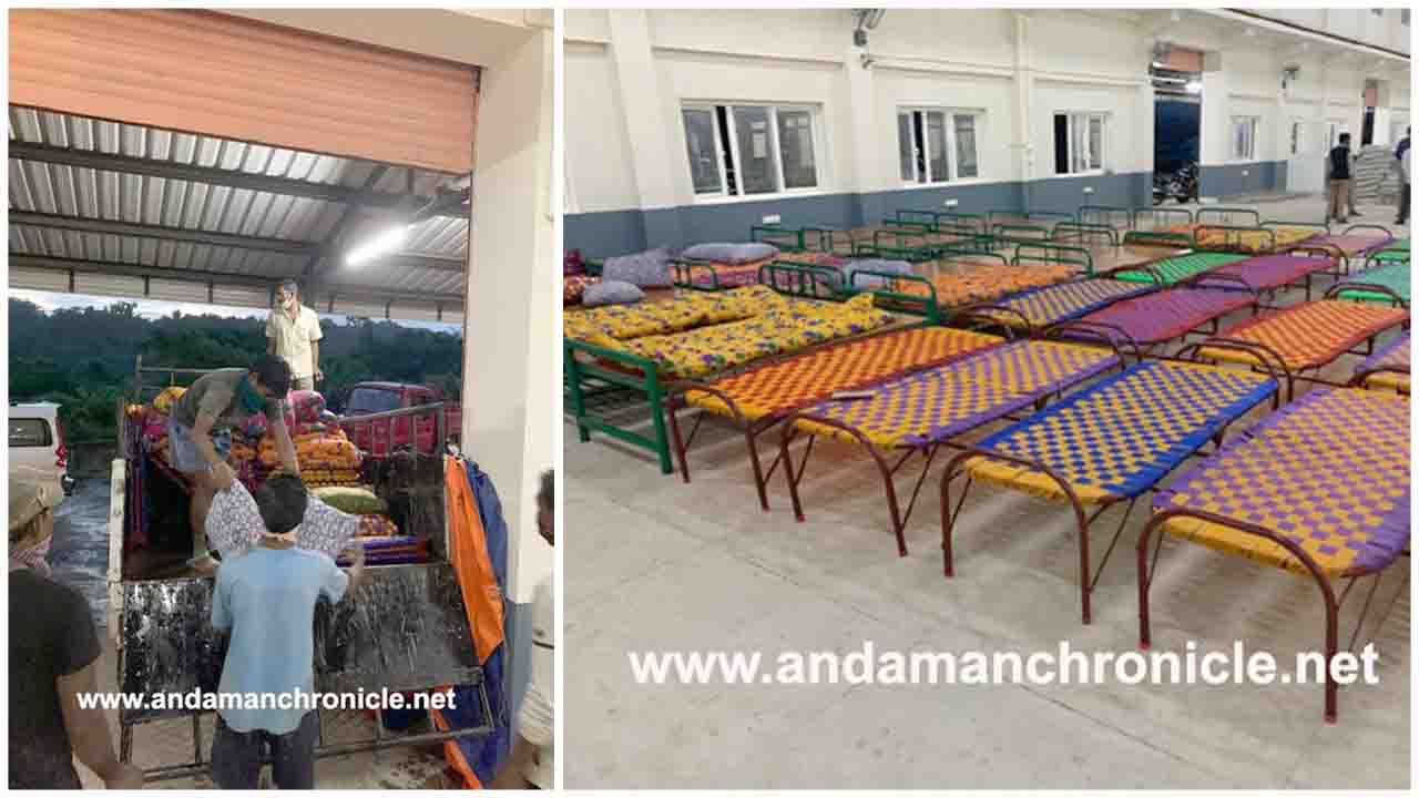 Port Blair Guru Ki Rasoi Donated Beds, Mattresses and Pillows for New Covid Centre at Dollygunj, Andaman