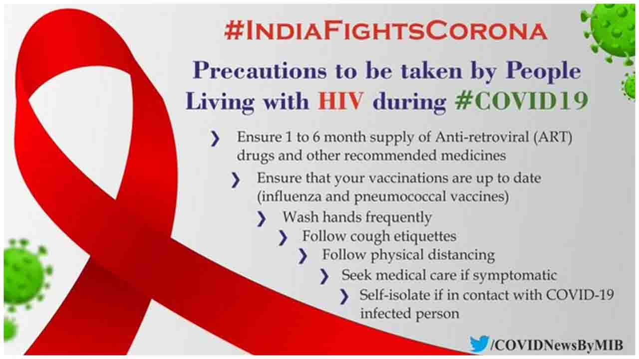 Precautions to be taken by people living with HIV during COVID-19