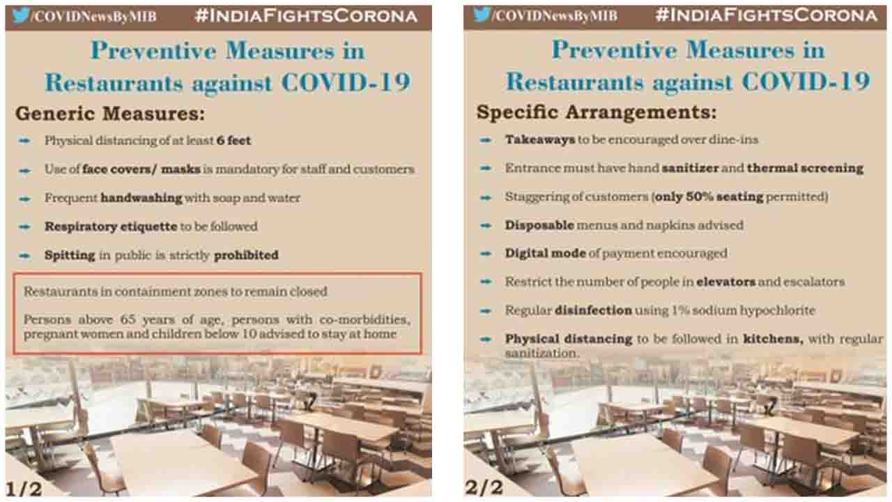 Preventive measures in Restaurants against COVID19