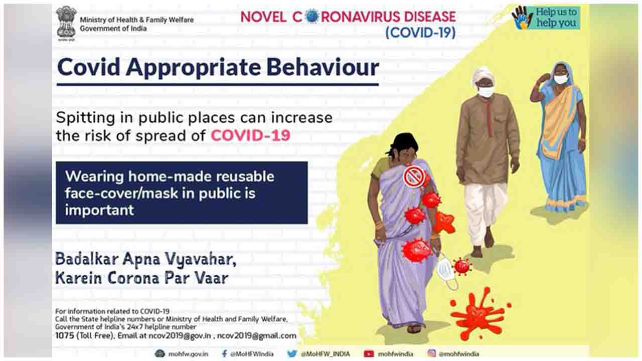Quit spitting in public places and wear your home-made reusable face-cover/mask at all times. Share this information.