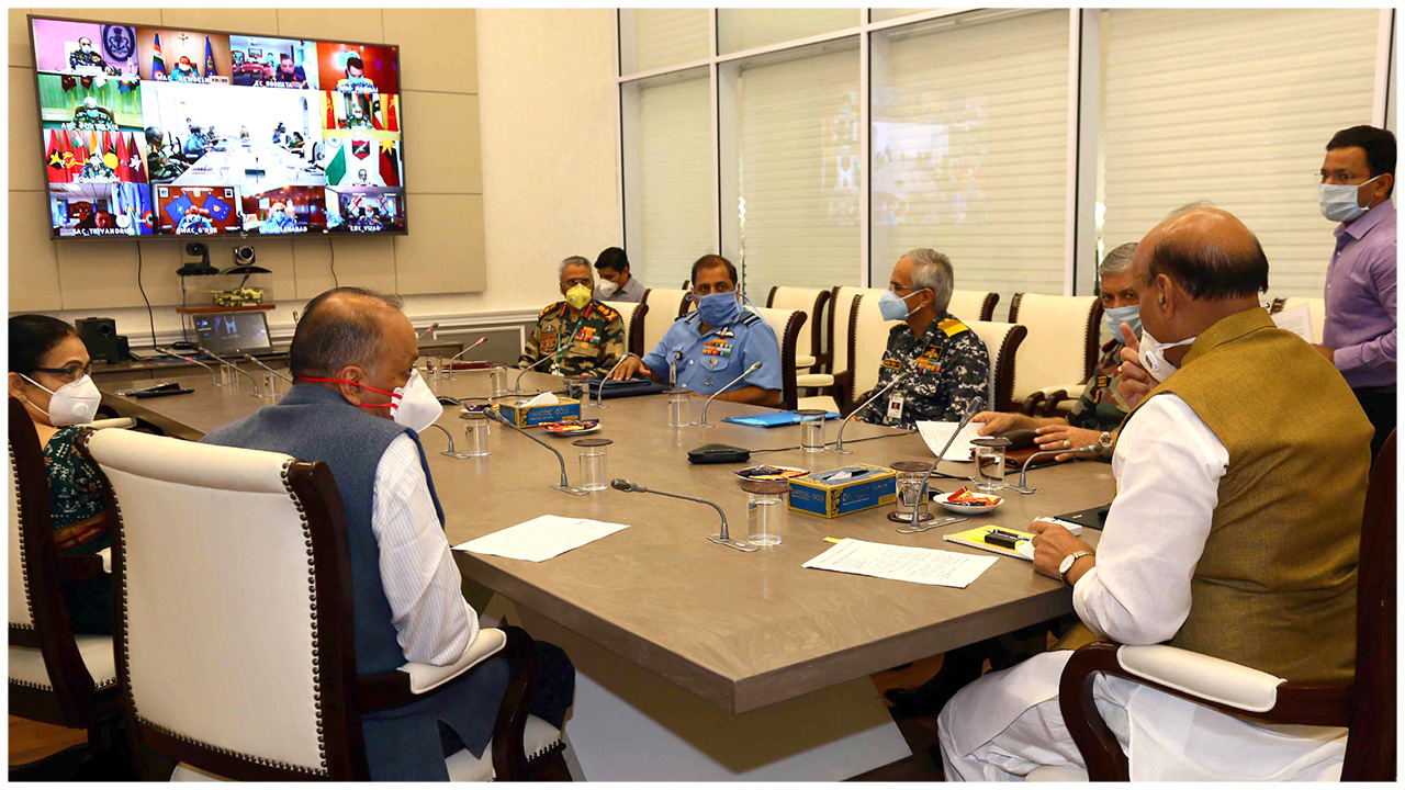 Rajnath Singh holds meeting with the various Commanders in Chief via video conference