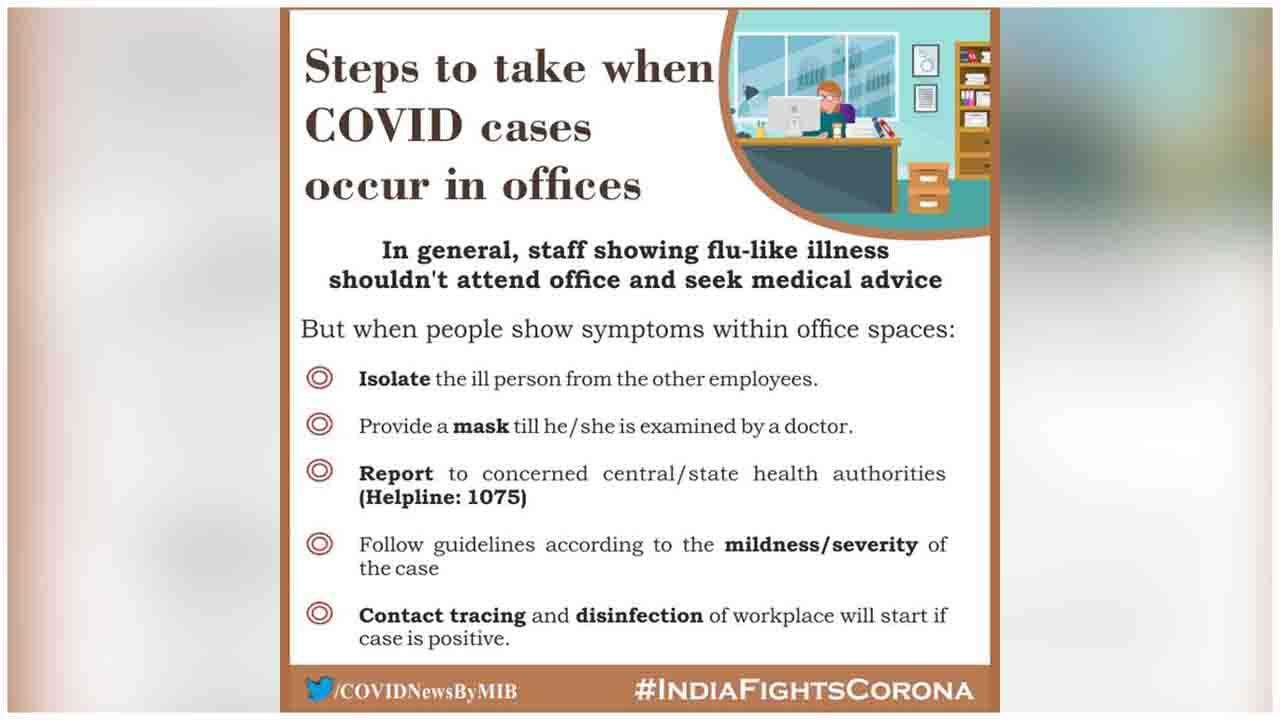 Steps to take when COVID cases occur in offices