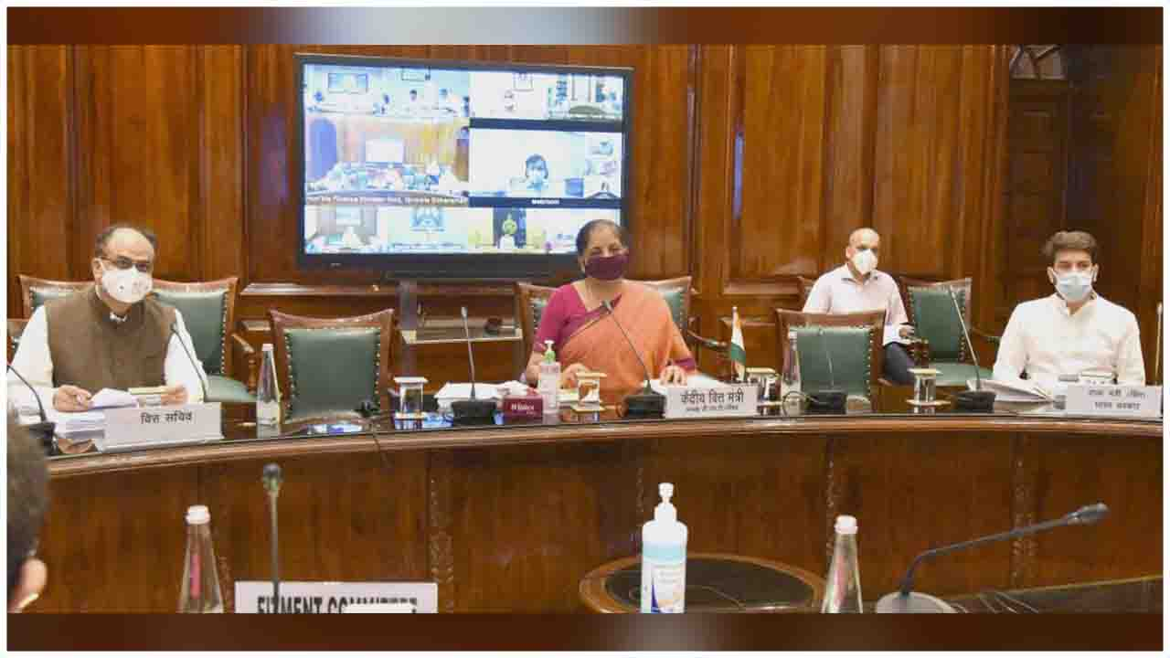Photo Feature : The Union Minister for Finance and Corporate Affairs, Smt.  Nirmala Sitharaman chairing the 40th GST Council meeting via video  conferencing, in New Delhi