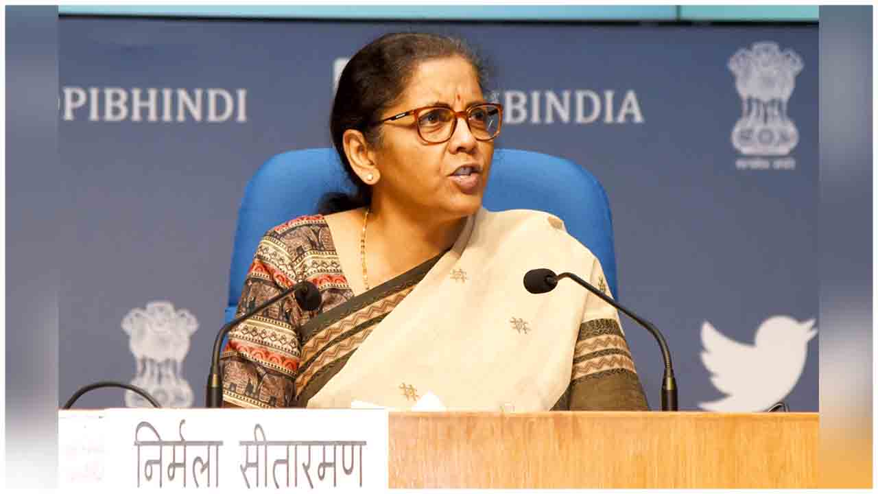 Smt. Nirmala Sitharaman holding the 4th press conference to announce the details of the special economic package, in New Delhi