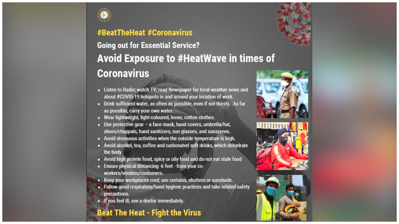 Tips to avoid exposure to #HeatWave in times of #CoronaVirus #Lockdown