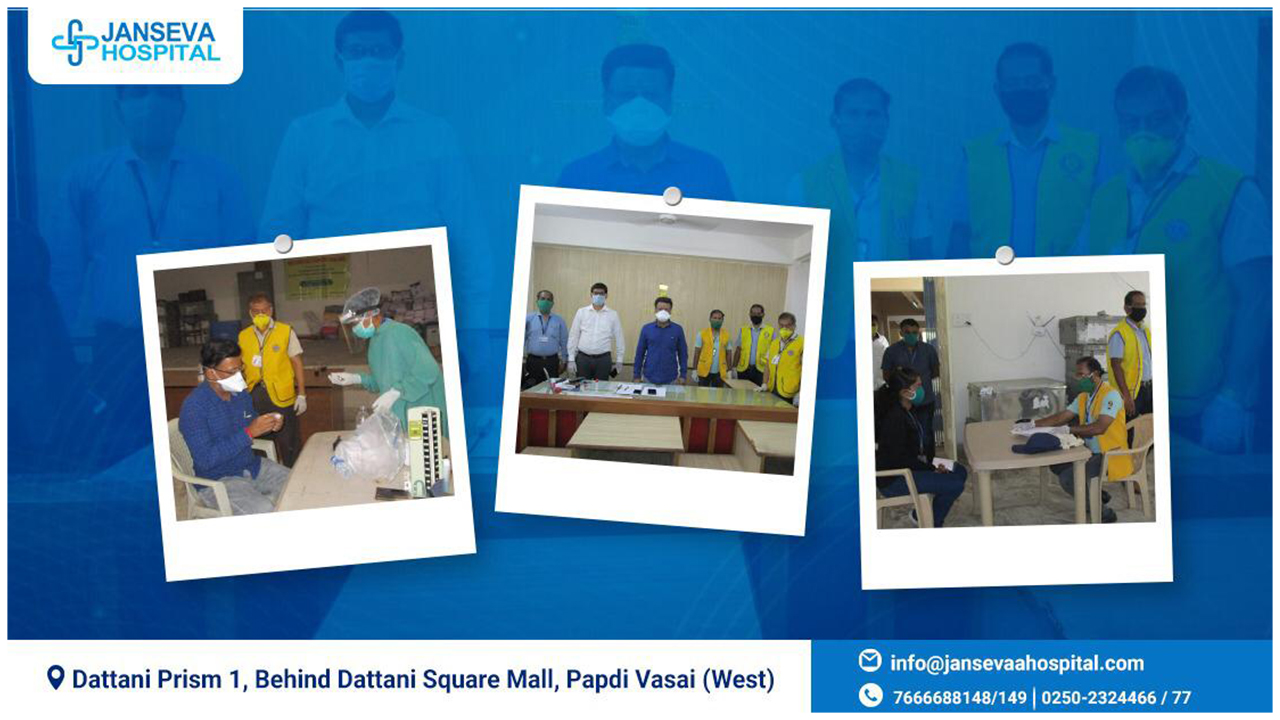 JANSEVA HOSPITAL and Lions Club of VASAI Conducts Medical Camp in Vasai